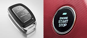 Smart key & Engine start/stop button
